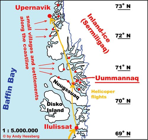 Map of Uummannaq area