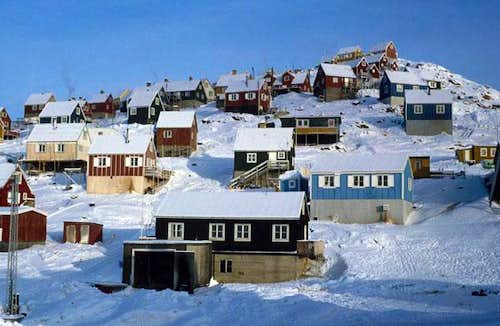 Typical Greenlandic houses