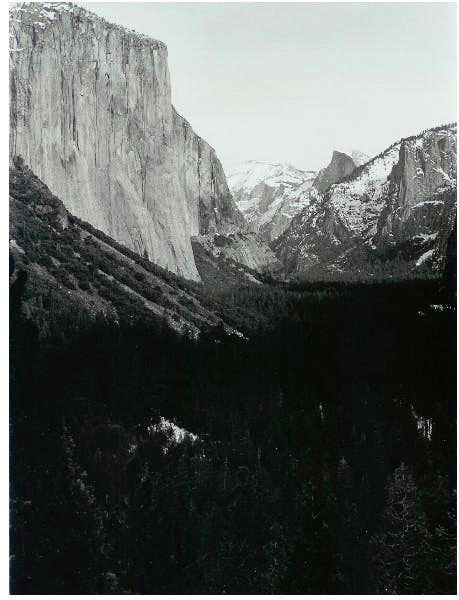 El Capitan and Half Dome seen...