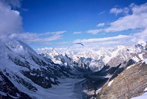 Gliding Laila Peak