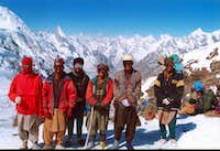Laila from Gondogoro Top with porters