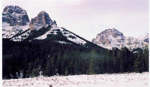 Boedeker Butte & Cathedral Peak