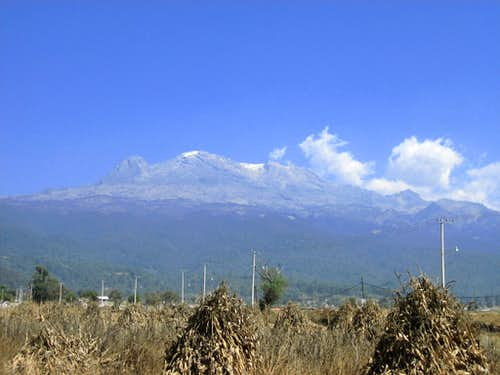 Iztaccihuatl from outskirts of Amecameca