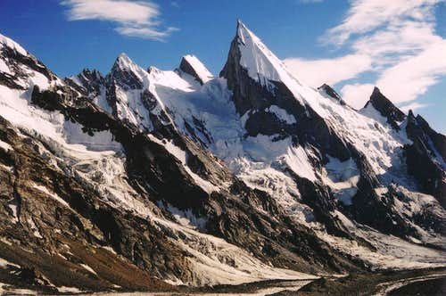 Laila Peak from Xhuspang Camp