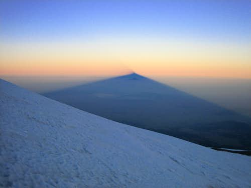 Obligatory shot of Orizaba\'s shadow