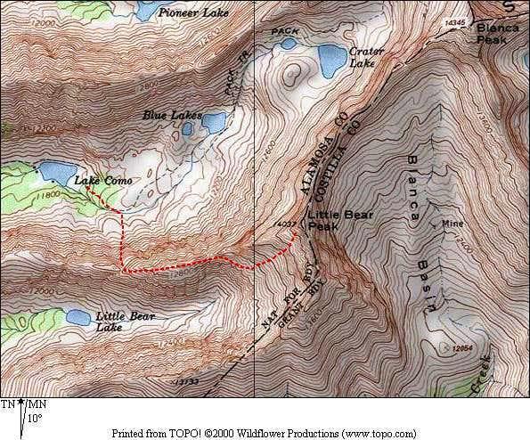 West Ridge / Hourglass Route