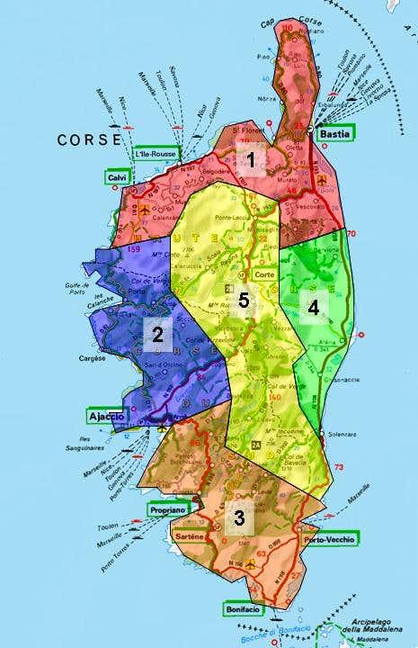 Overview Map Corsica : Photos, Diagrams & Topos : SummitPost