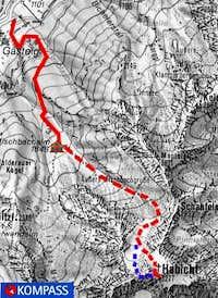 Habicht ice climb: The North...