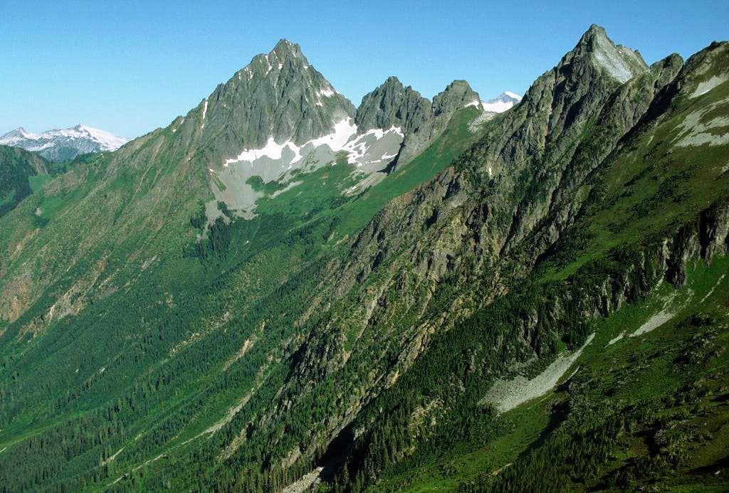 South face of Mixup Peak
