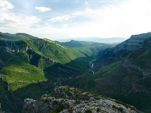 River Cijevna canyon