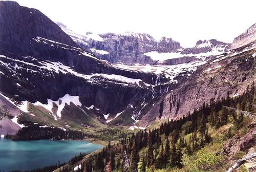 Grinnell Glacier Trail View