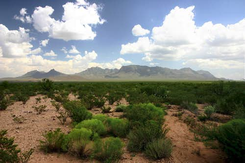 Chisos Mountains from Paint Gap Hills