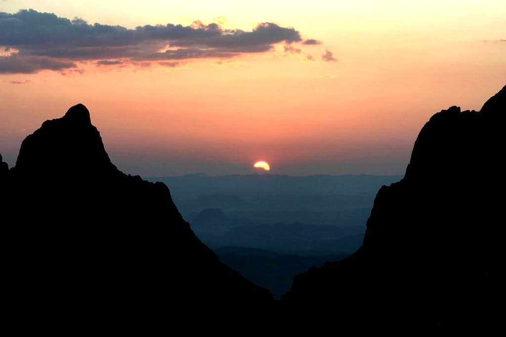 Sunset at the Chisos Basin Window