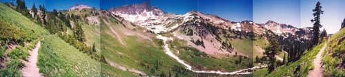 A panorama of Cispus Basin...
