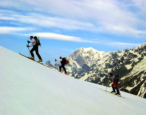 Ski mountaineering in Val Ferret