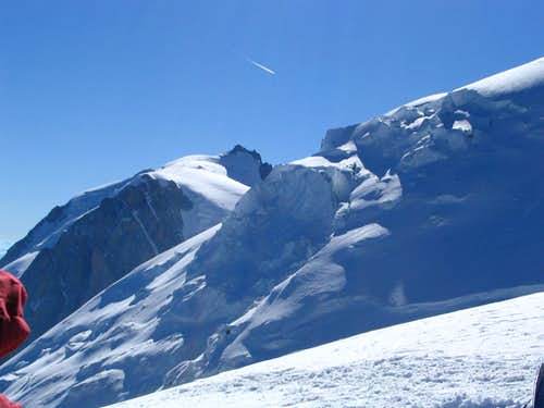Mont Blanc du Tacul and glacier seen from Aig. du Gouter.7/2005