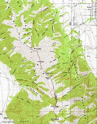 Box Elder Peak Map