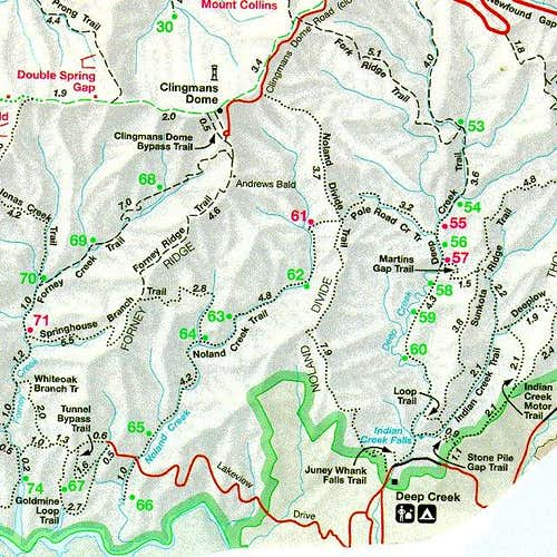 From the NPS GSMNP map. From...