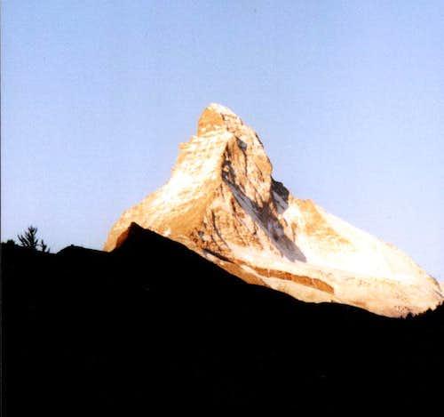 Matterhorn, seen from Zermatt...