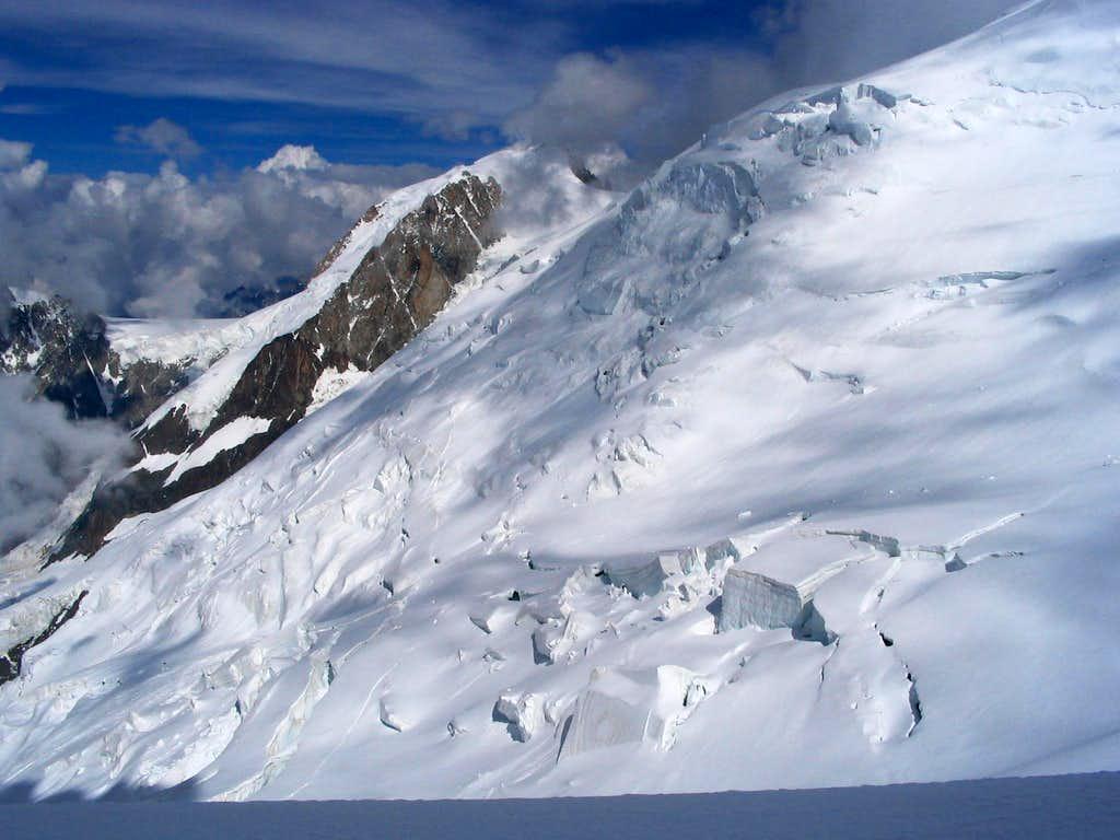 Glacier,view from Aig. du Gouter.7/2005