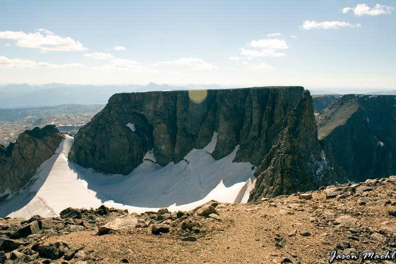 Peak 12,540  and Castle Rock Spire