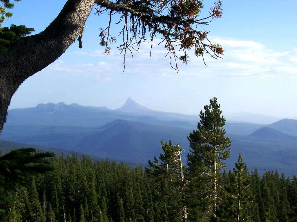 A view of Mt thielson.