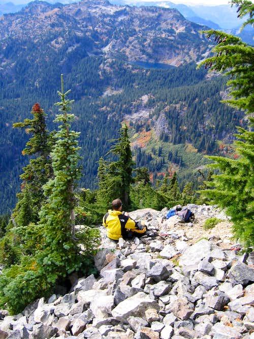 Summit Approach rock slope