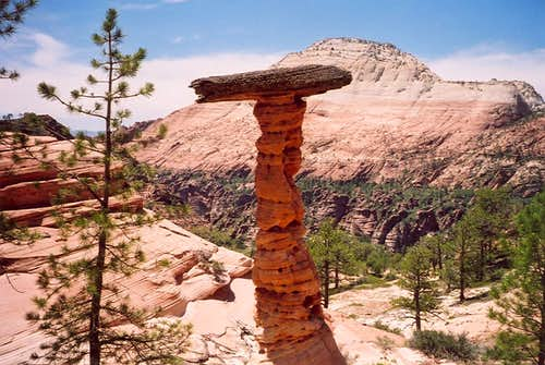 Interesting balanced rock