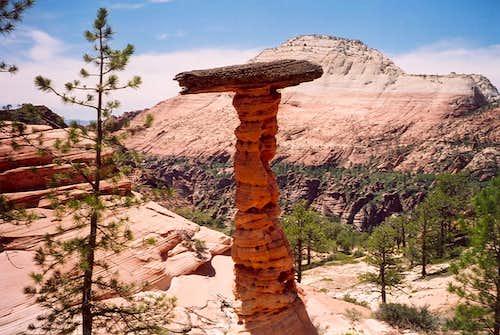 Interesting balanced rock