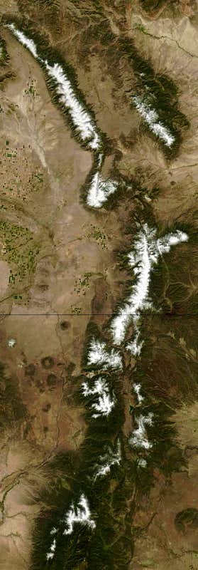 Sangre de Cristos from space