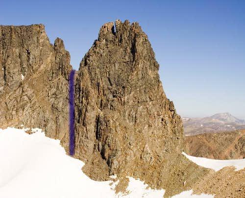 Castle Rock Spire Rappel Route