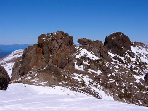 Summit crags seen from the...