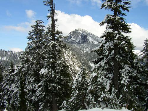 N face of Snoqualmie Mountain