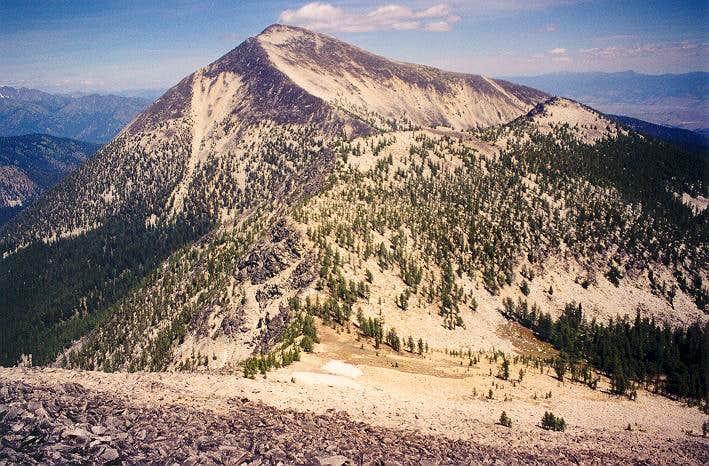 Oval Peak as seen from...