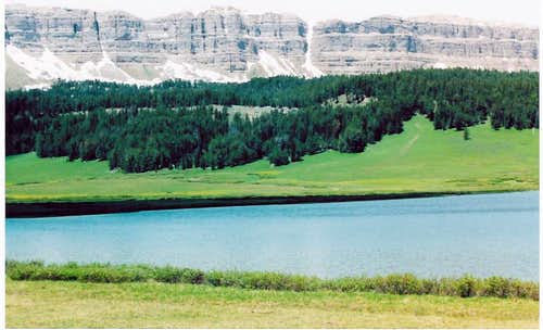 Brooks Lake & Cliffs Of The Continental Divide.