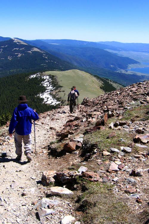 Descent From Baldy Mountain