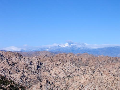 A snow covered San Gorgonio