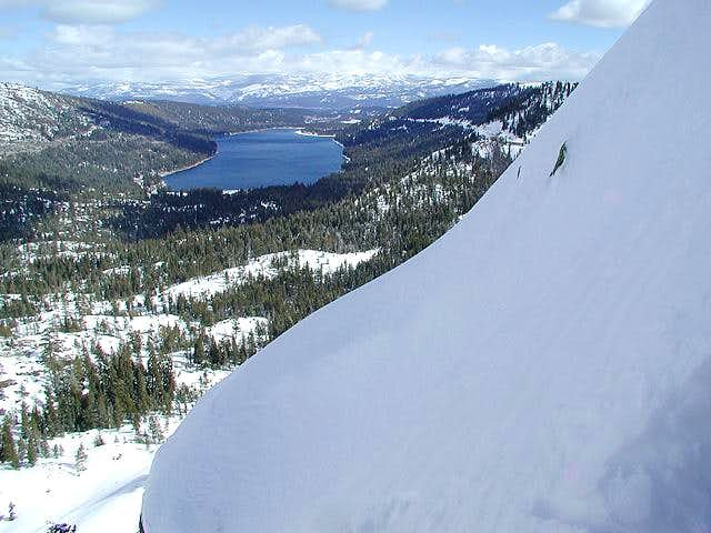 View of Donner Lake while...