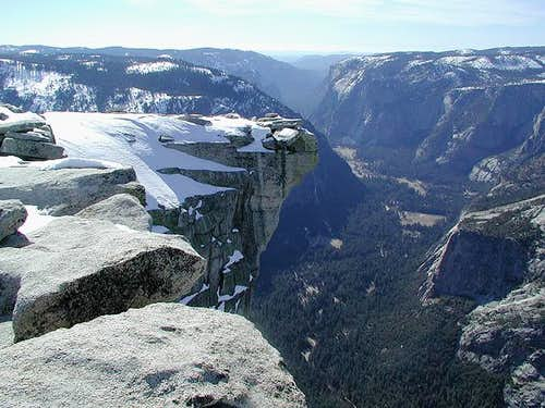 Half Dome\'s summit and...