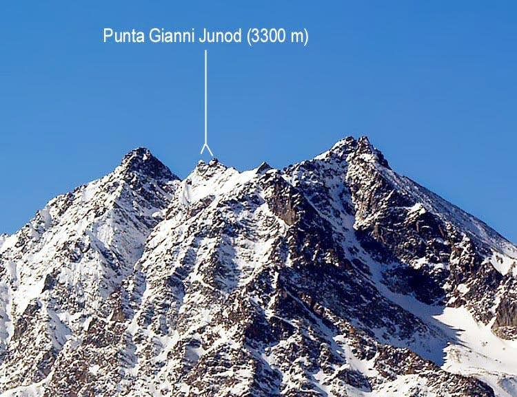 <font color=blue>▲</font>Punte Gianni Junod or Central Roise