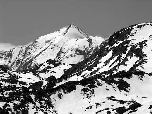 Aiguille de la Grande Sassière (3751 m) from punta de la Crosatie