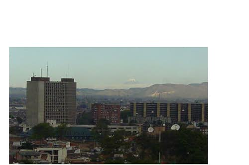 Nevado del Tolima seen from Bogotá