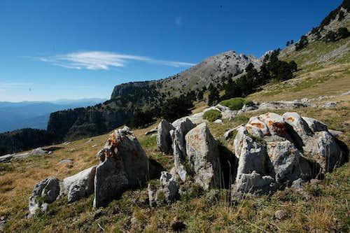 On the slopes of the Peña Montañesa
