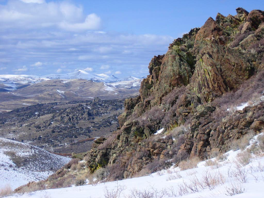 Rooster Comb Summit Ridge with Owyhee Background