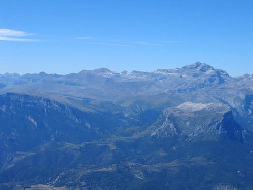 Perdido as seen from Peña Montañesa