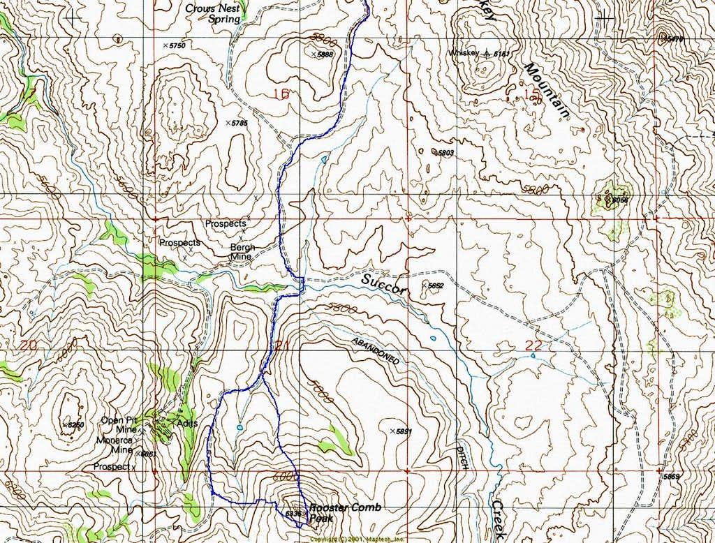 Rooster Comb Topo- North Ridge