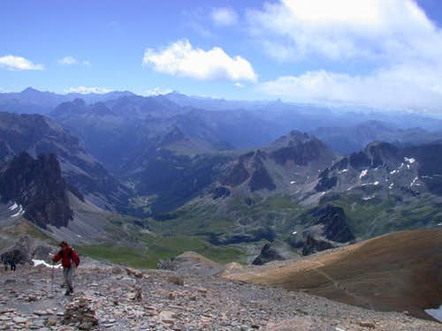Ascent to the summit of Mont Thabord