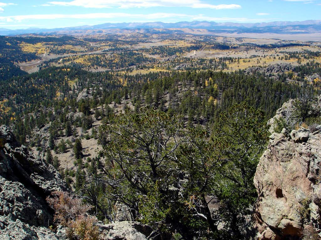 View west from the summit of Observatory Rock