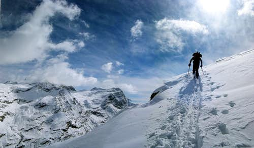 Ski mountaineering in Orco Valley