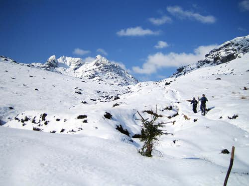 Looking back towards The Cobbler.